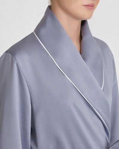 Francis Brennan the Collection Grey Luxury Satin Robe
