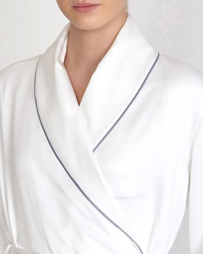 Francis Brennan the Collection Ivory Luxury Satin Robe