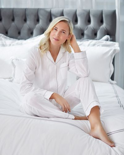 Francis Brennan the Collection Cotton Pyjama Set