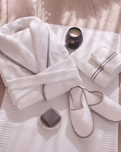 Francis Brennan the Collection White Luxury Terry Hotel Robe thumbnail