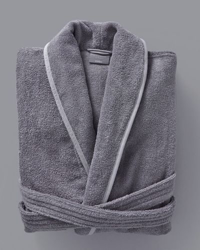 Francis Brennan the Collection Grey Luxury Terry Hotel Robe