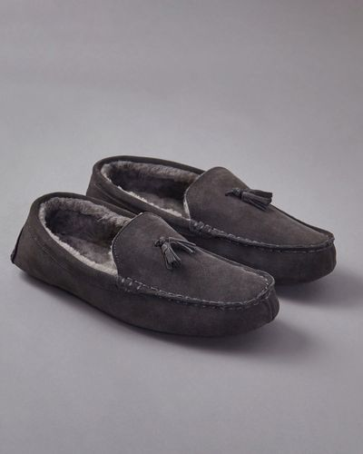Francis Brennan the Collection Mens Moccasin Slipper thumbnail