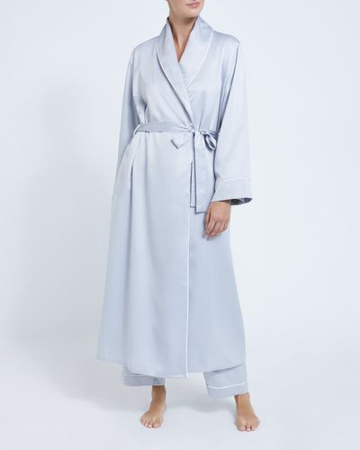 Francis Brennan the Collection Light Grey Satin Robe
