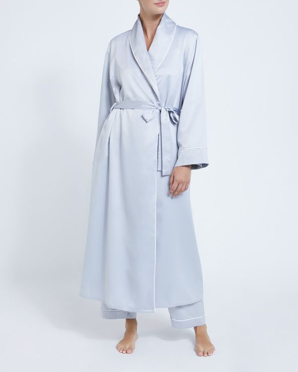 Francis Brennan the Collection Light Grey Satin Robe