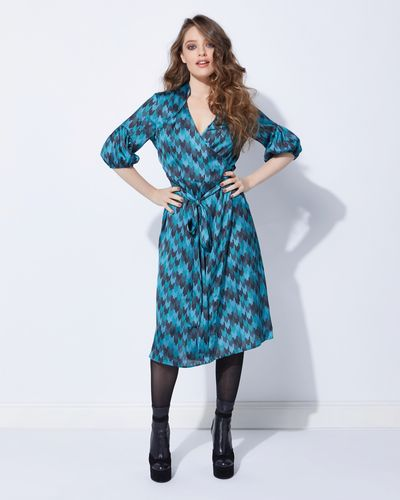 Lennon Courtney at Dunnes Stores Wrap Print Dress