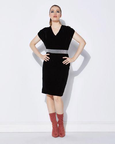 Lennon Courtney at Dunnes Stores Velvet Draped Dress