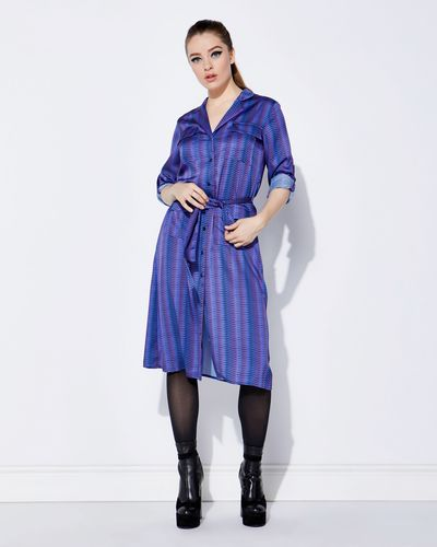 Lennon Courtney at Dunnes Stores Blue Print Shirt Dress