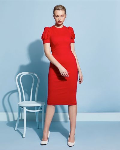Lennon Courtney at Dunnes Stores Perfect Puff Sleeve Dress thumbnail
