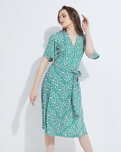 Lennon Courtney at Dunnes Stores Green Fluted Sleeve Dress