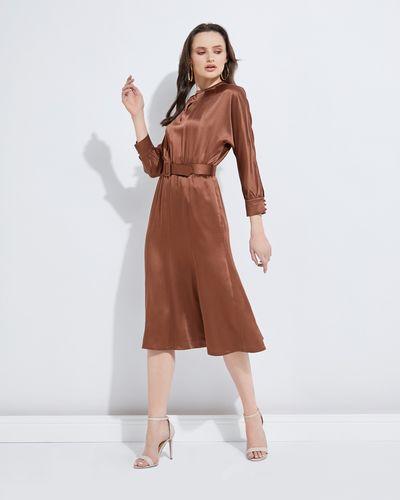 Lennon Courtney at Dunnes Stores Bronze Draped Dress