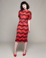 multi Lennon Courtney at Dunnes Stores Red Stripe Batwing Dress