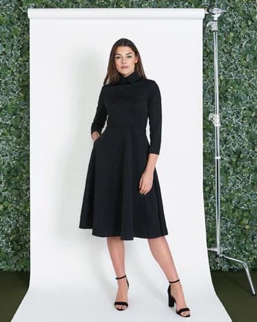 blackLennon Courtney at Dunnes Stores Black Bell Dress