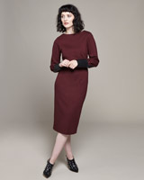 burgundy Lennon Courtney at Dunnes Stores Burgundy PU Sleeve Dress