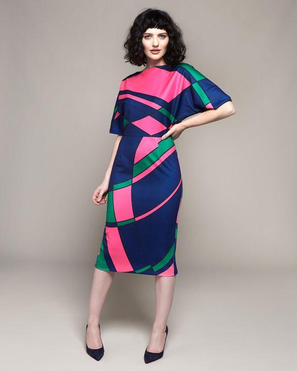 Lennon Courtney at Dunnes Stores Blue Multi Print Dress