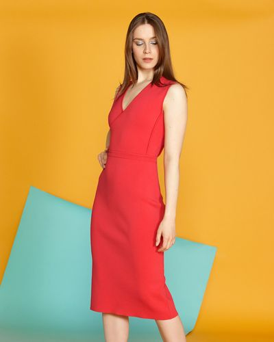 Lennon Courtney at Dunnes Stores Wrap Knit Dress