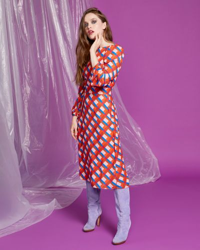 Lennon Courtney at Dunnes Stores Check Print Dress thumbnail