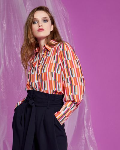 Lennon Courtney at Dunnes Stores Vertical Tile Print Shirt