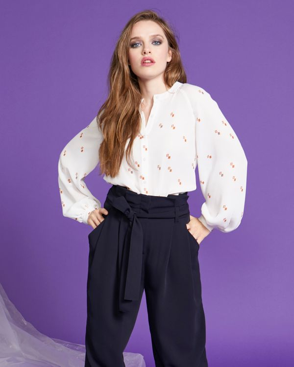 Lennon Courtney at Dunnes Stores Scattered Square Print Blouson