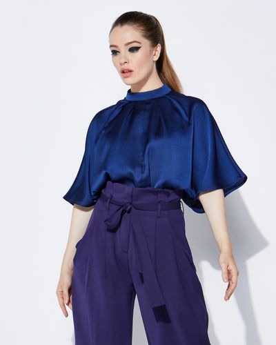 Lennon Courtney at Dunnes Stores Midnight Batwing Top
