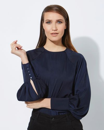 Lennon Courtney at Dunnes Stores Navy Milano Satin Top