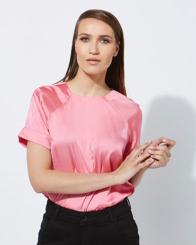 Lennon Courtney at Dunnes Stores Pink Raglan Top