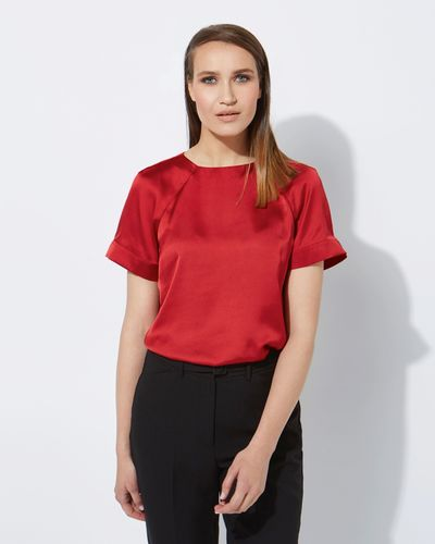 Lennon Courtney at Dunnes Stores Red Raglan Top