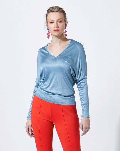 Lennon Courtney at Dunnes Stores Blue Batwing Jersey thumbnail