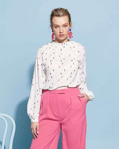 Lennon Courtney at Dunnes Stores Scatterd Jana Blouse thumbnail