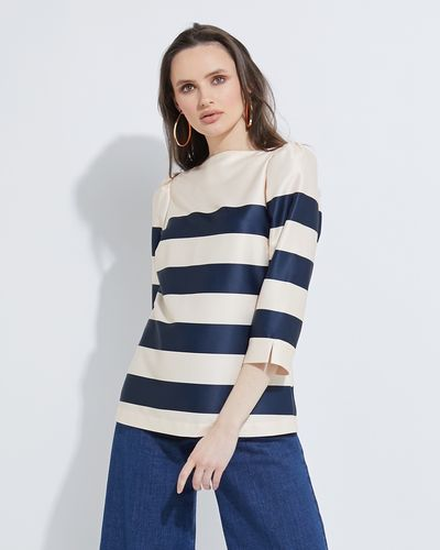 Lennon Courtney at Dunnes Stores Nautical Boat Neck Top
