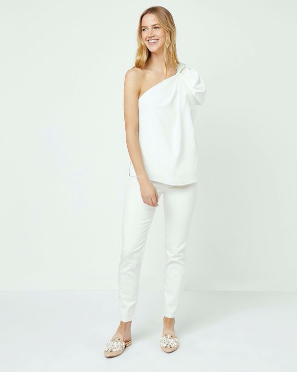 Lennon Courtney at Dunnes Stores White Heat One Shoulder Top