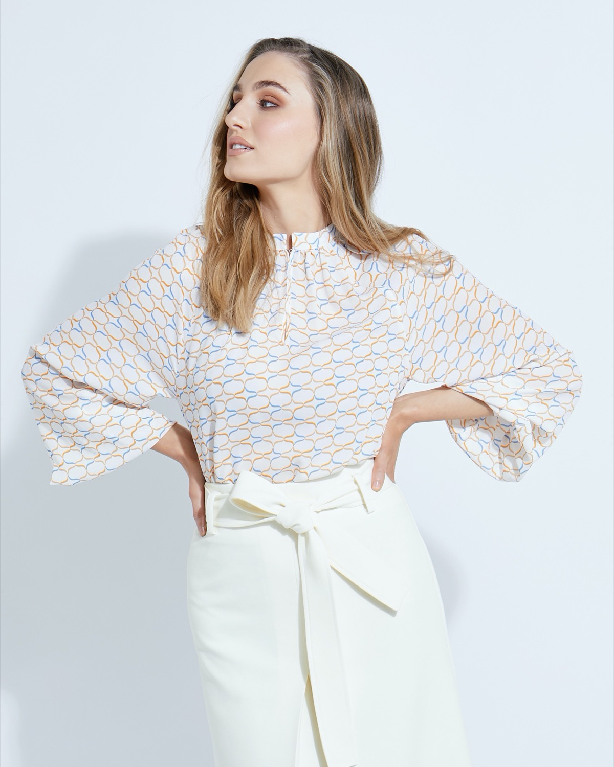 Lennon Courtney at Dunnes Stores Jana Print Blouse
