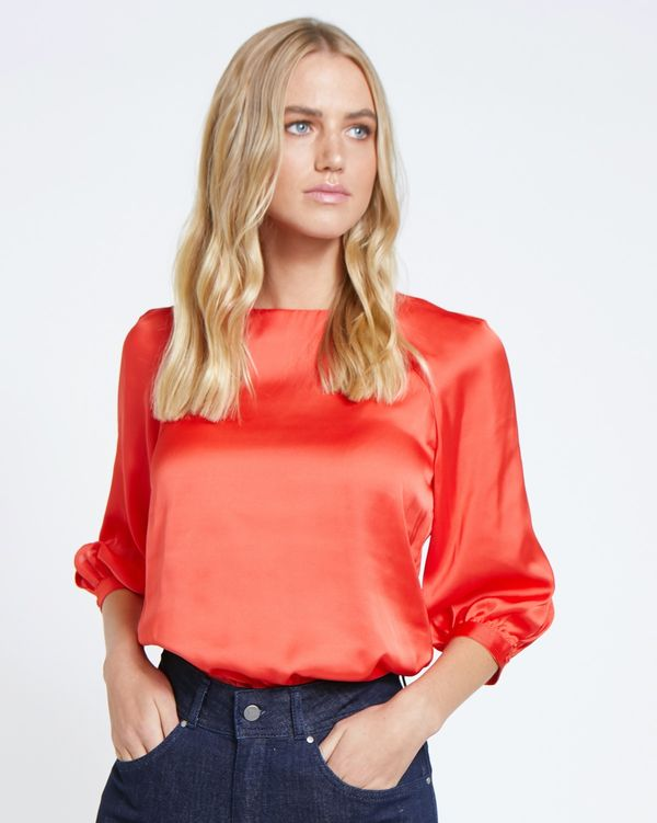 Lennon Courtney at Dunnes Stores Red Hot Raglan Top