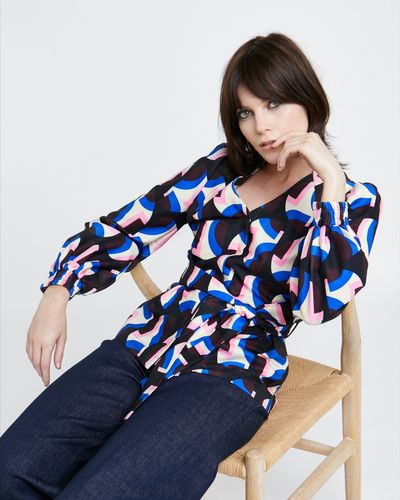Lennon Courtney at Dunnes Stores 40s Geo Print Blouse thumbnail