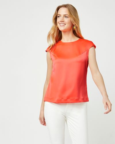 Lennon Courtney at Dunnes Stores Coral Cap Sleeve Top