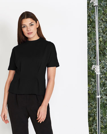 Lennon Courtney at Dunnes Stores Jersey Pleat Top