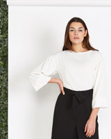 cream Lennon Courtney at Dunnes Stores Cream Tie Front Top