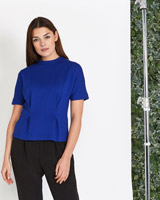 cobalt Lennon Courtney at Dunnes Stores Jersey Pleat Top