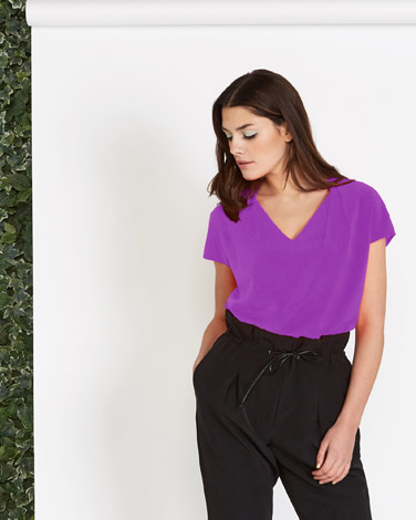 Lennon Courtney at Dunnes Stores Purple V-Neck Top