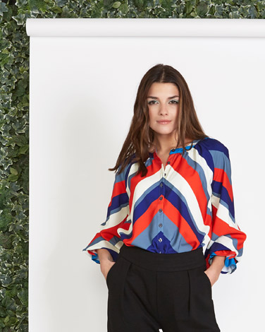 multi Lennon Courtney at Dunnes Stores Print Frill Sleeve Blouse