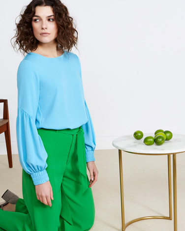 blue Lennon Courtney at Dunnes Stores Blue Drop Sleeve Top