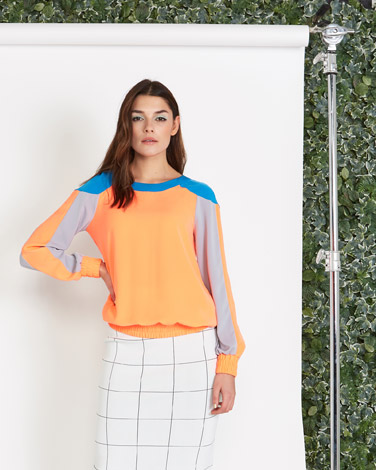 multi Lennon Courtney at Dunnes Stores Sports Contrast Sweater