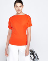 white Lennon Courtney at Dunnes Stores Red Boat Neck Top