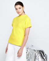yellow Lennon Courtney at Dunnes Stores Yellow Drape Top