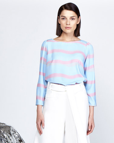 Lennon Courtney at Dunnes Stores Stripe Boat Neck Top