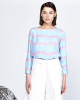 multi Lennon Courtney at Dunnes Stores Stripe Boat Neck Top