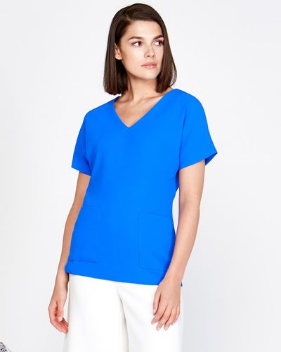 Lennon Courtney at Dunnes Stores Cobalt V-Neck Top thumbnail