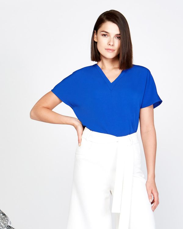 Lennon Courtney at Dunnes Stores Pleat Front V-Neck Top