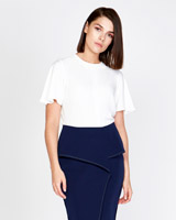 white Lennon Courtney at Dunnes Stores Contrast Stitch Top