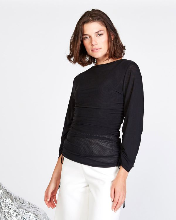 Lennon Courtney at Dunnes Stores Black Mesh Top