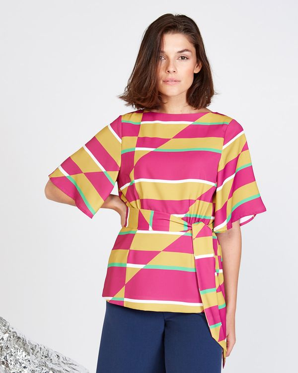 Lennon Courtney at Dunnes Stores Printed Batwing Top